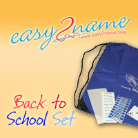 Easy2Name back to school name stickers for children pupils in school