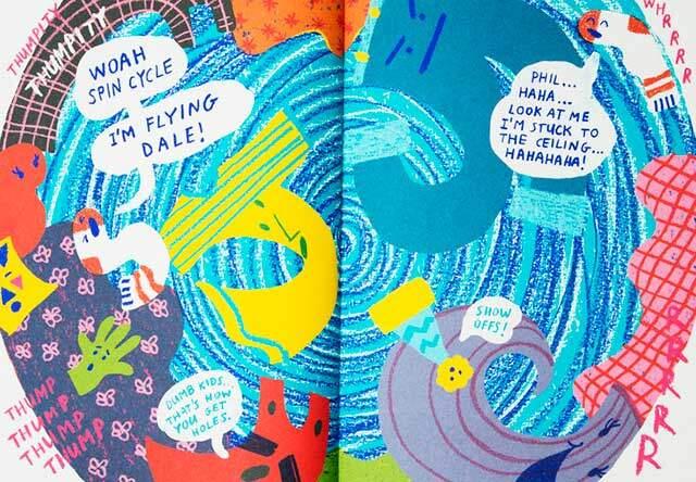 Sock Story inside spread