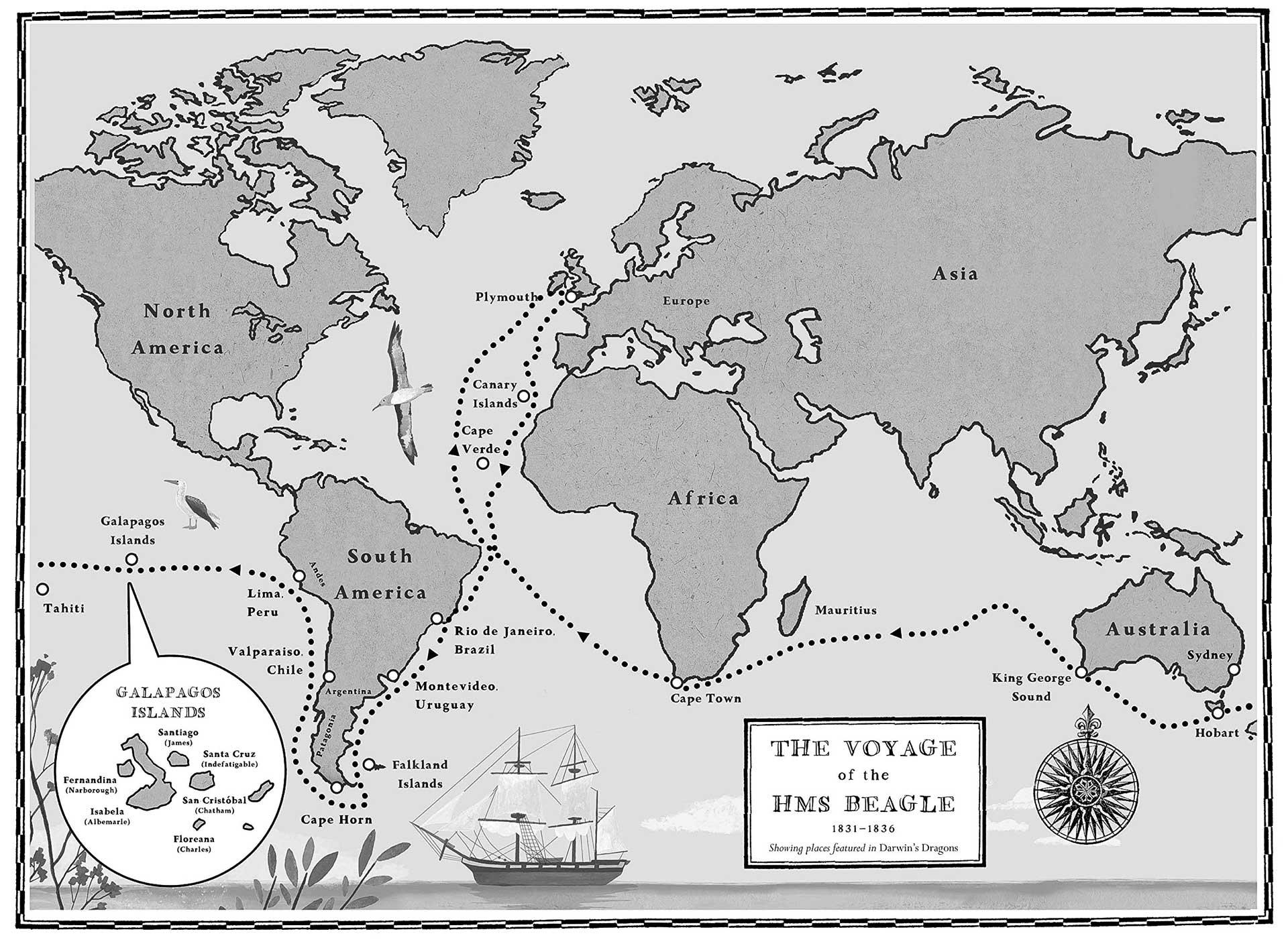 Darwin's Dragons map