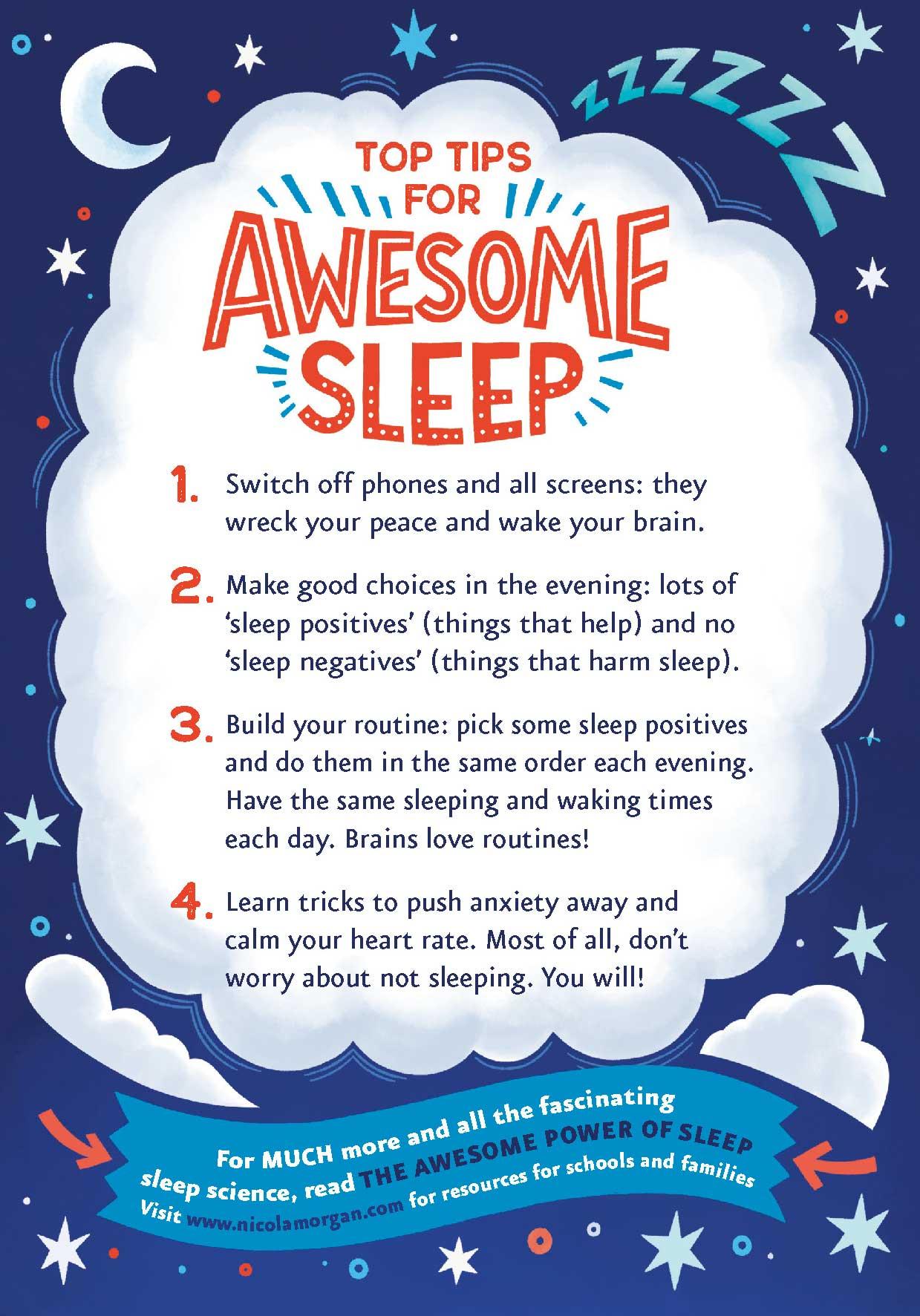 The Awesome Power of Sleep postcard