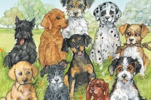 Ten Little Dogs by Ruth Brown